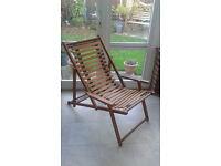 2 Wooden Garden Deck Chairs