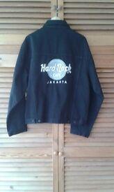 Black denim Hard Rock Jakarta Jacket.