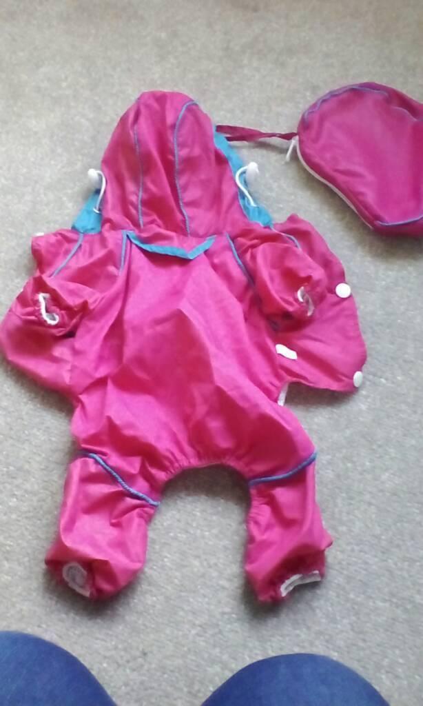 Waterproof onesie in a bag