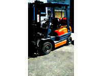 Gas Forklift 2 Ton * CONTAINER SPEC * Side-Shift * NO VAT * LOLER Cert Toyota not diesel electric