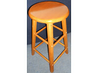 Tall Hardwood Stool