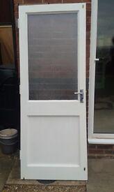 External Back Door Wooden & Glass Double Glazed