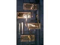 solid brass georgian door handles for sale