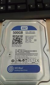 """**500GB HARD DRIVE**HARD DISK**HARDLY USED**3.5""""**WESTERN DIGITAL**DELIVERY**MANY AVAILABLE**"""