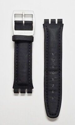 Swatch ADRENALINE 20mm leather strap fits 40mm wide Swatch irony chronograph