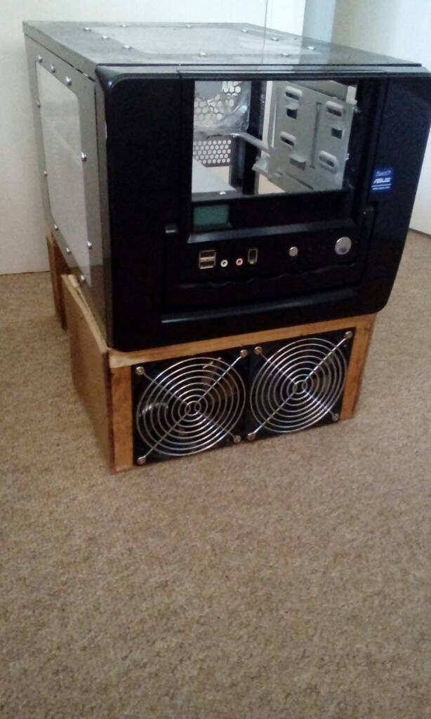 Atx micro custom pc case with large cooling fans