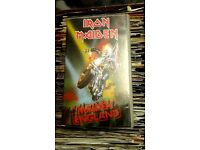 VHS Video Iron Maiden ‎– Maiden England, released by Picture Music International in 1989.