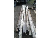 13 FOOT 6 INCH 4X4 INCH TIMBERS