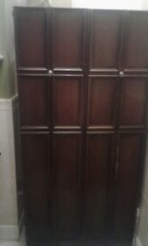 Lovely detailed wardrobe with panels to doors. old and solid