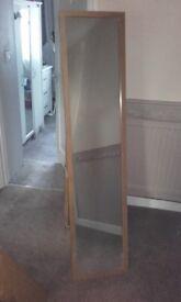 Free-standing floor length mirror