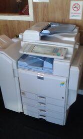 Ricoh MPC2800 colour copier/fax/scanner/printer + booklet finisher