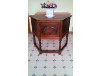 Vintage Carved Solid oak Cottage Hall/Lamp Table