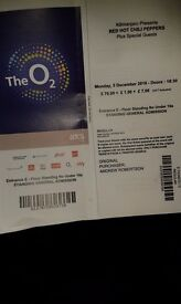 Red Hot Chili Peppers in O2, 5.12.2016 2 TICKETS