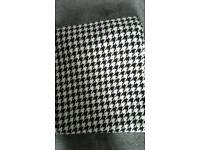 3 Meters Black & White Dogtooth Upholstery Fabric Brand New