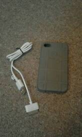 PHONE CASE AMD CHARGER.