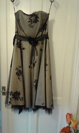 Quiz party strapless dress size 12 immaculate condition