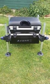 fishing tackle box/seat avantia 3 trays very clean is new good box not suitable for my needs