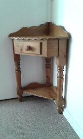 Rustic pine corner unit