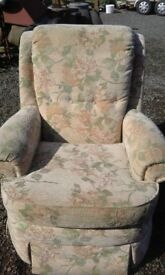 Fabric sofa & chair.