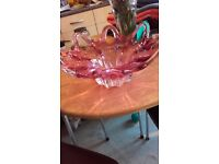 Antique lovely glass fruit bowl.