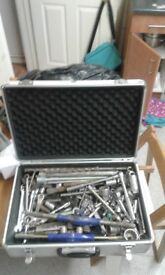 Aluminum tool case and tools