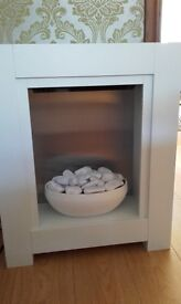 New electric fire white and modern
