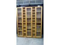 Bookcase and DVD storage units - Billy Range Ikea - light oak veneer