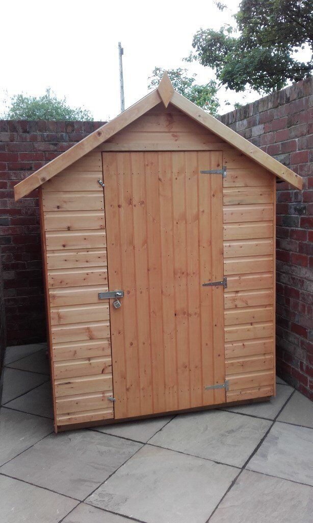 Wooden Apex Garden Shed 6FT X 4FT   Brand New   Fully Tu0026G   **