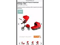 Red stokke explory +loads of extras+ buggy board