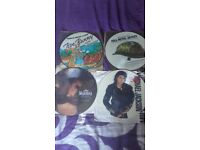 4 picture disc records