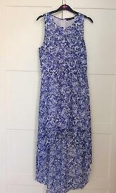 New Look Blue and white floral dress. Size 12