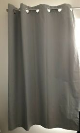 Pair of grey blackout curtains