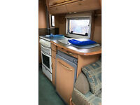 Lovely caravan in good condition. Solar panel. Dealers special. CRIS registered. Family outgrown.