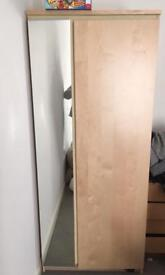 Wardrobe with mirror, IKEA
