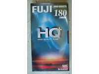 x6 blank Fuji E-180 HQ video cassettes