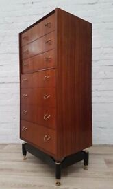 G-plan Tallboy Chest Of Drawers (DELIVERY AVAILABLE FOR THIS ITEM OF FURNITURE)