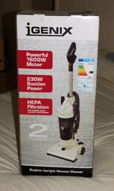 IGENIX UPRIGHT, BAGLESS VACUUM - NEW IN BOX