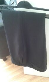 MENS BLACK SUIT TROUSERS-COLLECTION HOUGH GREEN