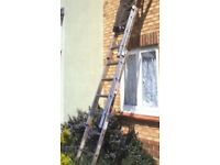 Heavy duty double extension ladder. Hardly used so like new