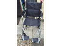 wheelchair for sale good condition folds up to fit in car