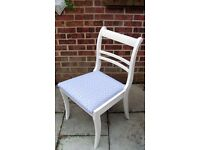 Stunning Shabby Chic Dining/Living/Bedroom Chair Painted in Antique White Colour