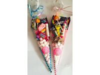 Selling pre filled sweet cones, party,wedding/christening