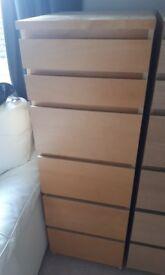 Ikea Malm 6 Drawer Tall Unit