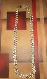Gold iced cuban chain