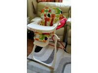 Cosatto highchair with travel bag in perfect condition
