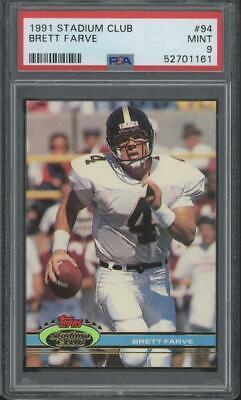 1991 Topps Stadium Club #94 Brett Favre RC Rookie Mint PSA 9