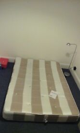 Double mattress, medium firm. Used, perfect condition