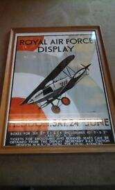 Royal air force poster in nice pine frame
