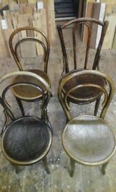 4 Vintage cane chairs