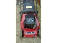 mountfied petrol lawnmower